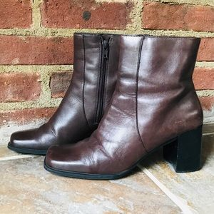 "Relativity Brown 3"" Heel Ankle Boots Size 7.5"